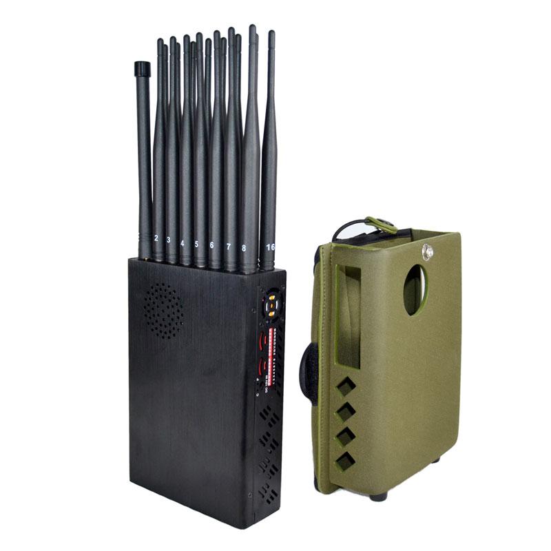 ポータブル16アンテナ5G携帯電話信号妨害機